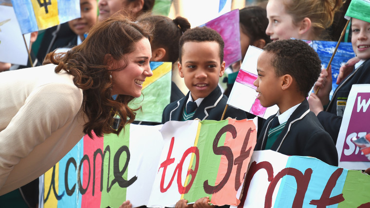 Former Kate Middleton and the Duke of Cambridge celebrate Commonwealth