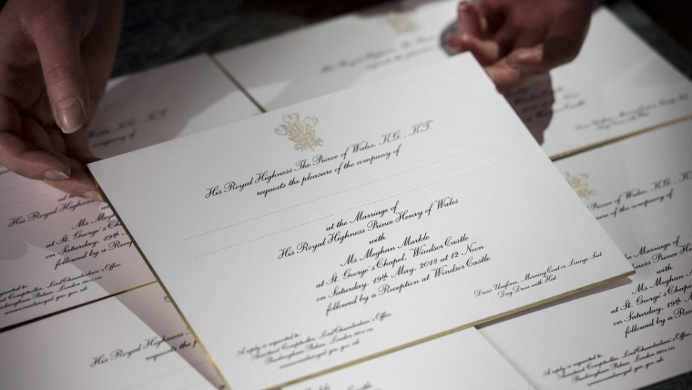 Meghan Markle and Prince Harry's wedding invitation