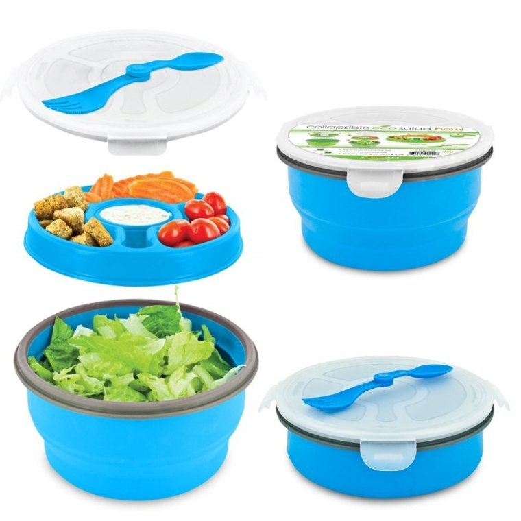 Smart Planet's Eco Salad Bowl has compartments to keep ingredients separate on-the-go.