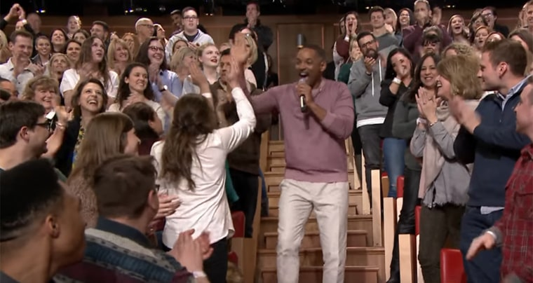 Will Smith was on Jimmy Fallon last night, and he and Fallon had a fun medley of tv theme songs.