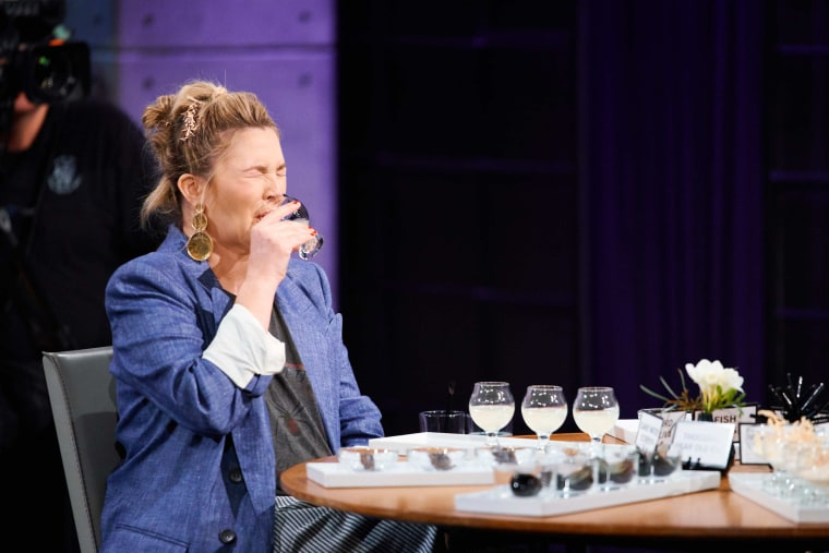 "Drew Barrymore plays ""Spill Your Guts or Fill Your Guts"" with James Corden on ""The Late Late Show."""