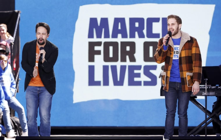 "Mirand and Platt performs during the ""March for Our Lives"" rally demanding gun control in Washington"