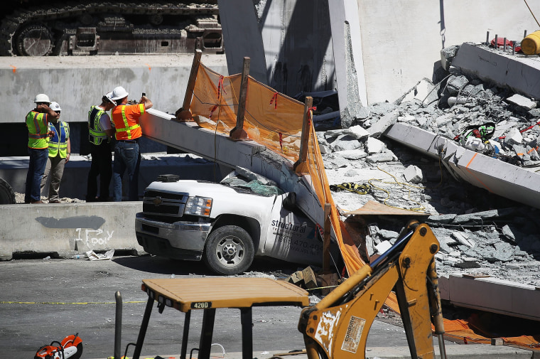 Image: At Least 6 Dead After Collapse Of Pedestrian Bridge In Miami