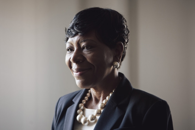 Image: Jameria Moore, an attorney and candidate for Jefferson County probate judge, stands for a portrait at her office in Birmingham on March 13, 2018. African-American women are running in higher numbers in Jefferson County, Alabama.