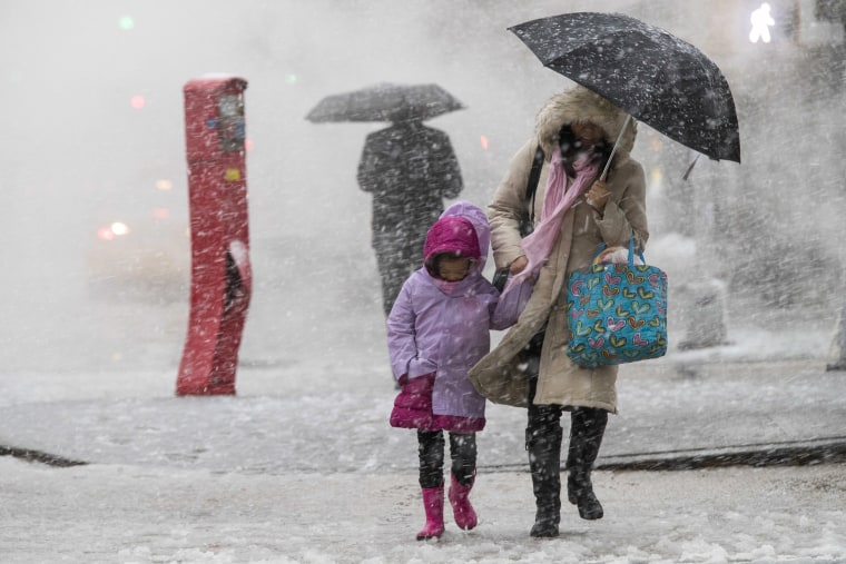 Image: Nor'easter Weather Scene