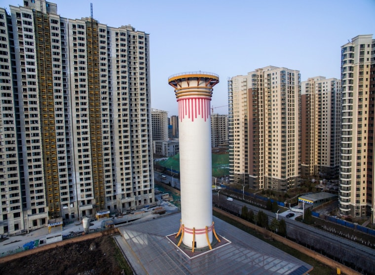 Image: China builds world's largest air purifier to combat pollution