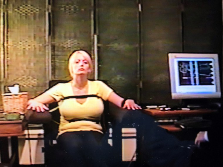 Image: Stormy Daniels during a polygraph exam conducted in May 2011
