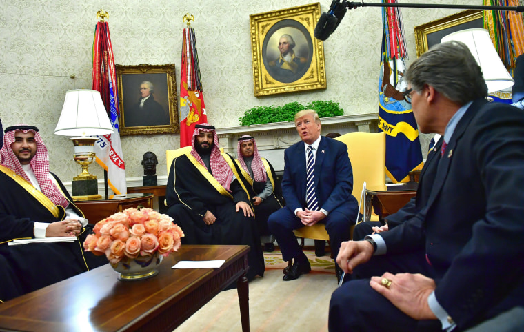Image:  Trump meets Crown Prince Mohammed bin Salman