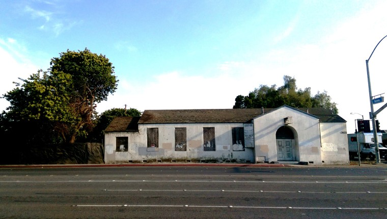 Image: Wintersburg Japanese Church, present day. The building is boarded up, as it was during World War II-era incarceration.