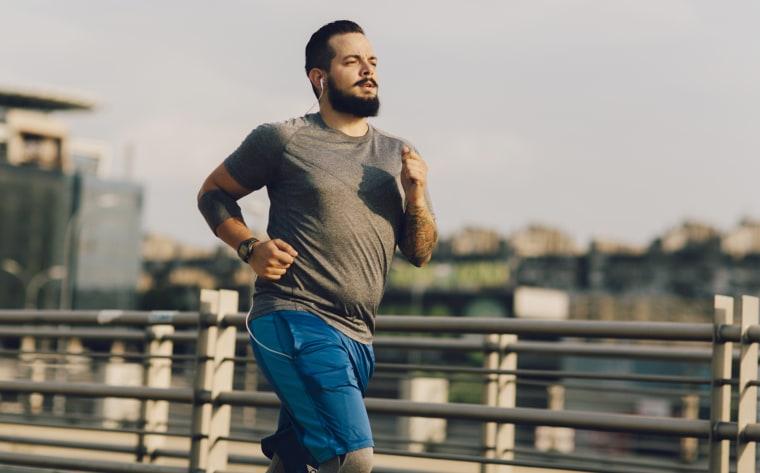 Image: A man runs