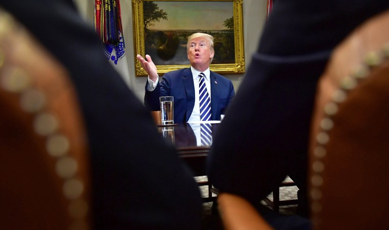Image: President Trump holds a law enforcement roundtable on sanctuary cities at the White House