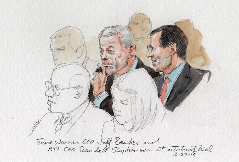 Image: Court Sketch ATT & Time Warner