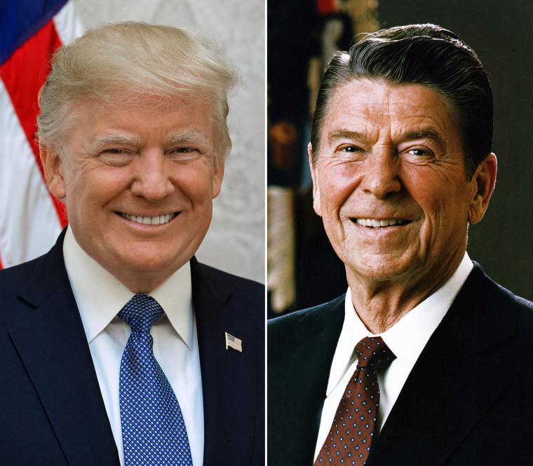 Image: Donald Trump, Ronald Reagan
