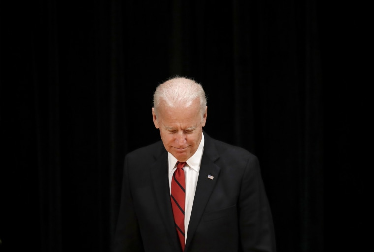 Image: Former Vice President Joe Biden walks onstage during an event to formally launch the Biden Institute, a research and policy center focused on domestic issues at the University of Delaware, in Newark, Delaware, March 13, 2017.