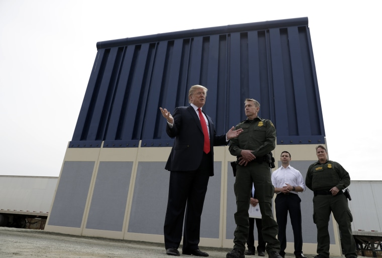 Image: Donald Trump border wall prototypes