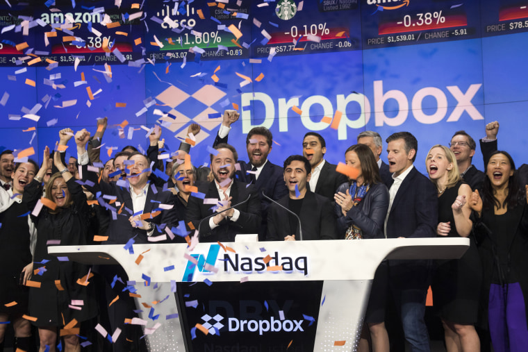 Image: Dropbox Debuts On Nasdaq Exchange