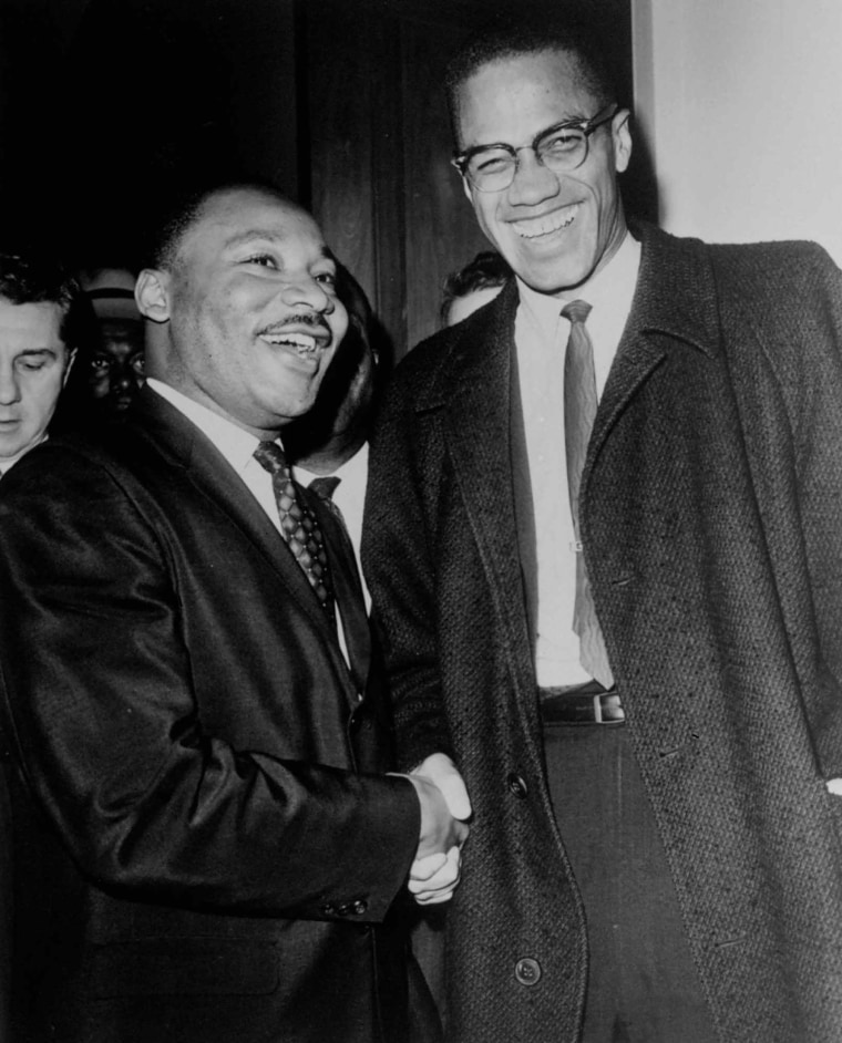 Image: MLK and Malcolm X