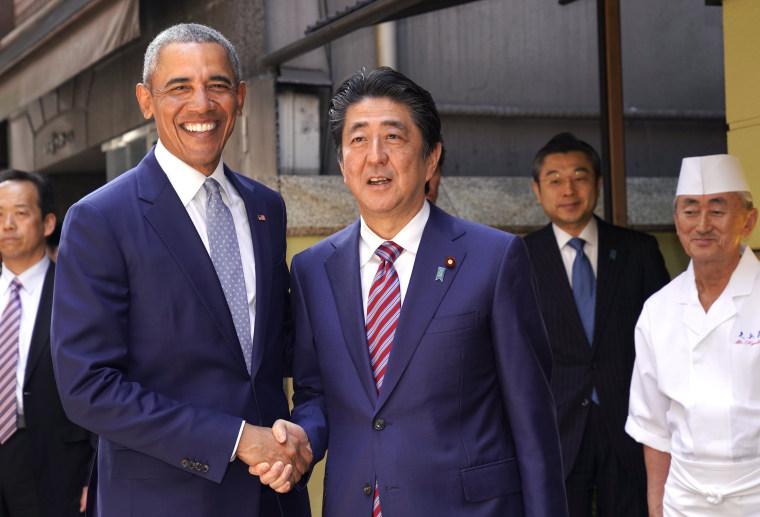 Image: Former President Barack Obama visits Japan