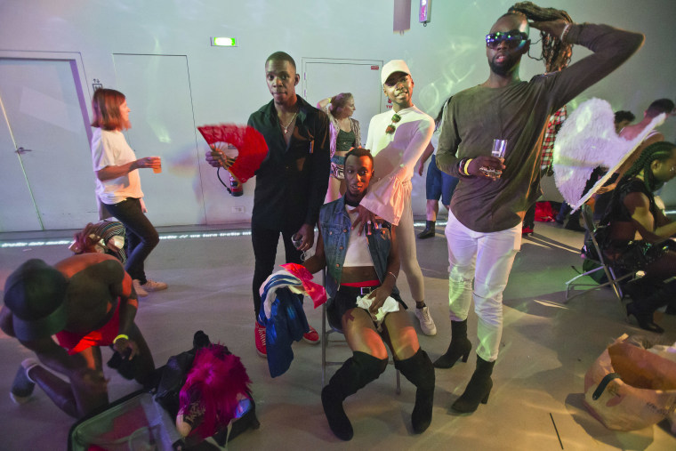 Image: Voguing ballroom dancers gather prior to the competition in Paris