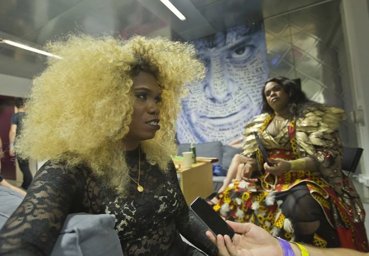 Image: Jury member USA's Mother Steffie speaks during an interview prior to a competition