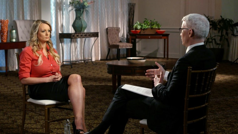 Image: Stormy Daniels and Anderson Cooper