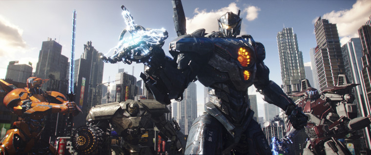 """Image: A scene from """"Pacific Rim: Uprising."""""""