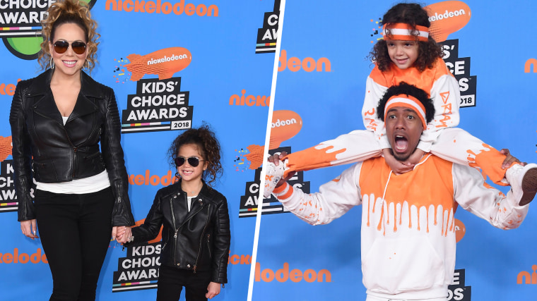 Mariah Carey, Monroe / INGLEWOOD, CA - MARCH 24:  Moroccan Scott Cannon (top) and Nick Cannon attend Nickelodeon's 2018 Kids' Choice Awards at The Forum on March 24, 2018 in Inglewood, California.