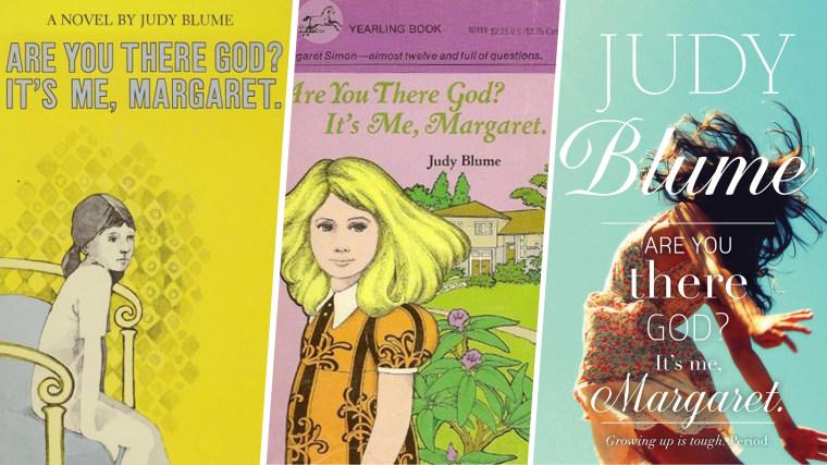 Judy Blum's book covers.