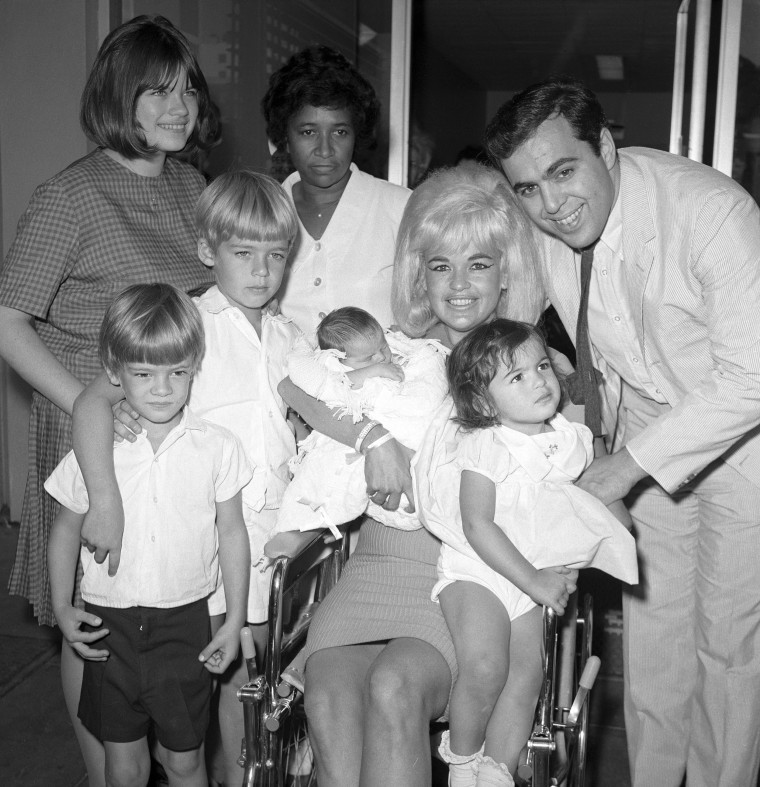 Portrait of Performer Jayne Mansfield With Her Immediate Family