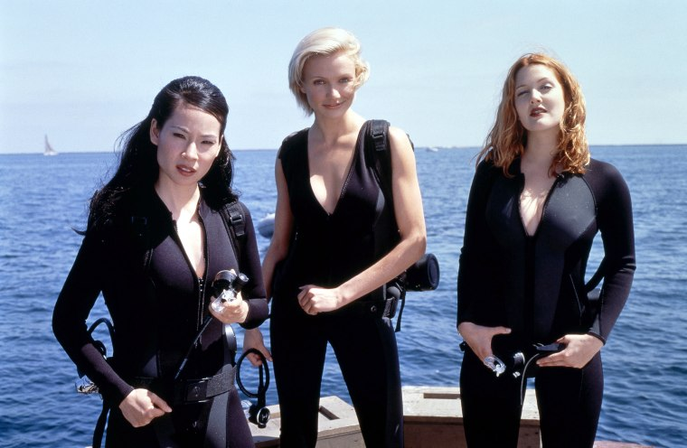 "Lucy Liu, Cameron Diaz and Drew Barrymore in 2000's ""Charlie's Angels."""