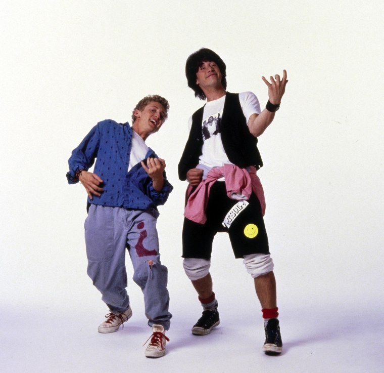 """Keanu Reeves and Alex Winter in """"Bill & Ted's Excellent Adventure"""""""
