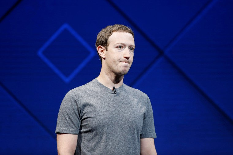 Image: Facebook founder and CEO Mark Zuckerberg speaks on stage during the annual Facebook F8 developers conference