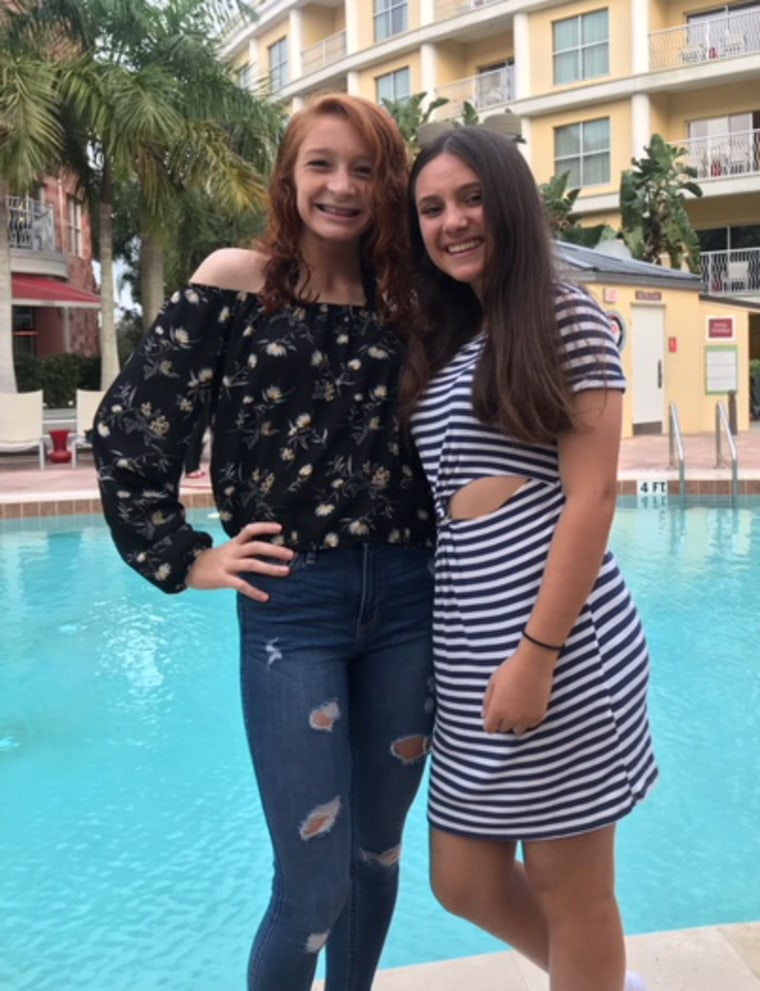 Image: Marjory Stoneman Douglas High School students Raquel Alvarado and Alyssa Alhadeff