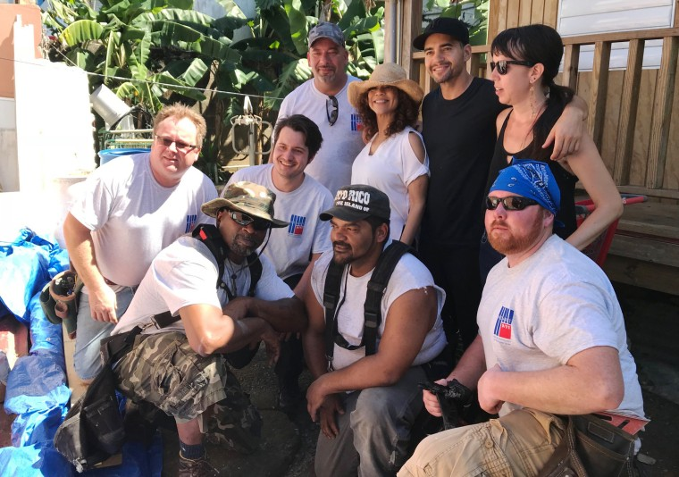 Image: Rosie Perez and Ramon Rodriguez visit Puerto Rico to launch their the carpentry pilot program