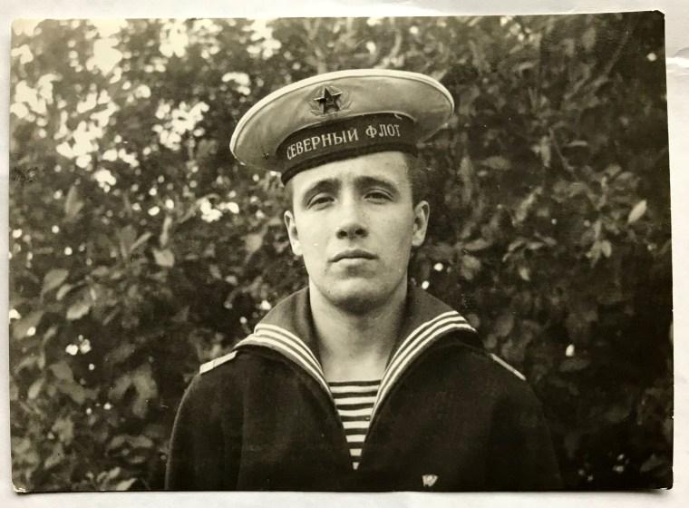 Image: Victor Marakov in a naval uniform