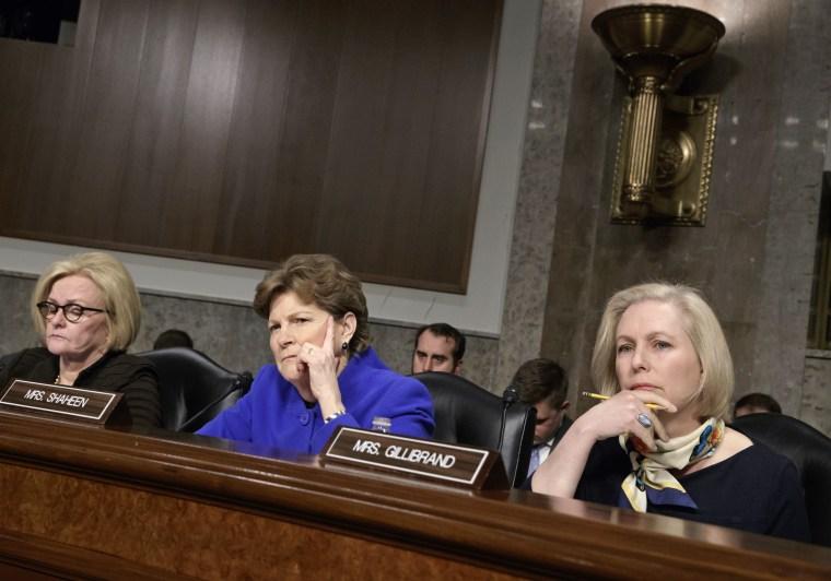 Kirsten Gillibrand,Jeanne Shaheen,Claire McCaskill