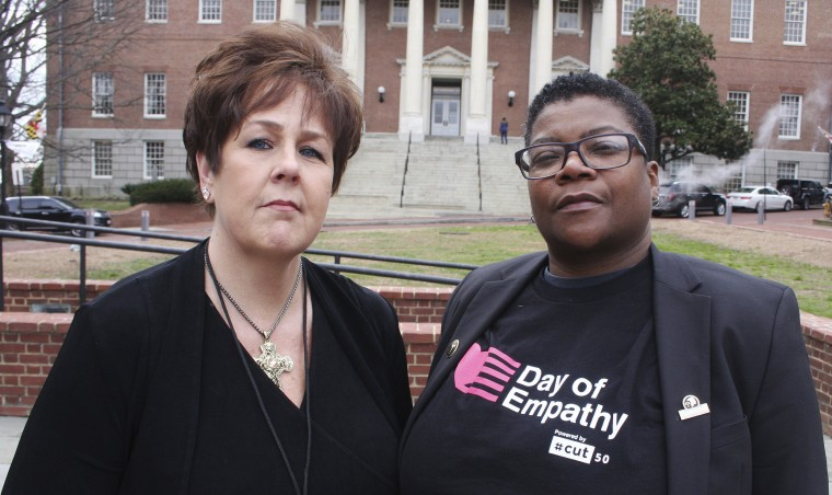 Image: Kimberly Haven, left, and Monica Cooper, two advocates for reforms in correctional facilities, i