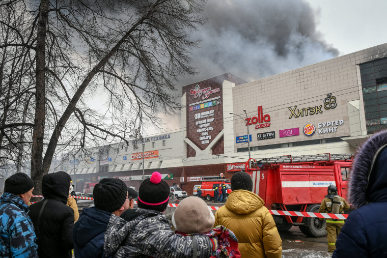 Image: Kemerovo shopping mall fire
