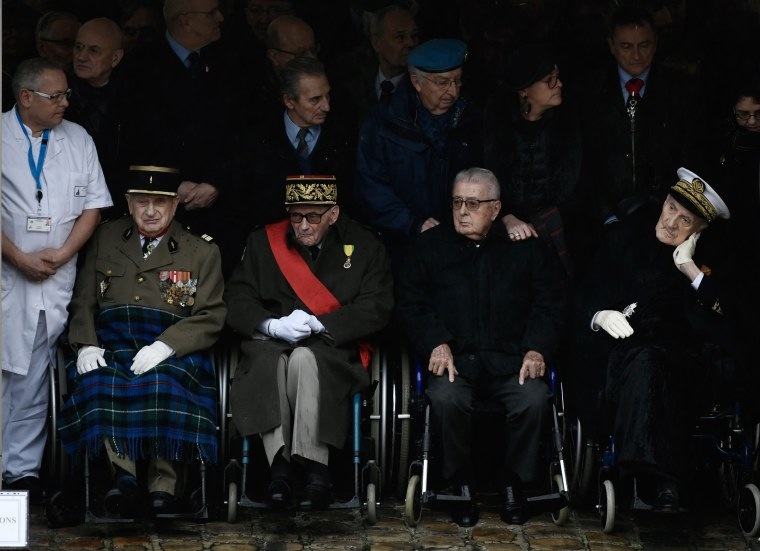 Image: Veterans attend a national ceremony