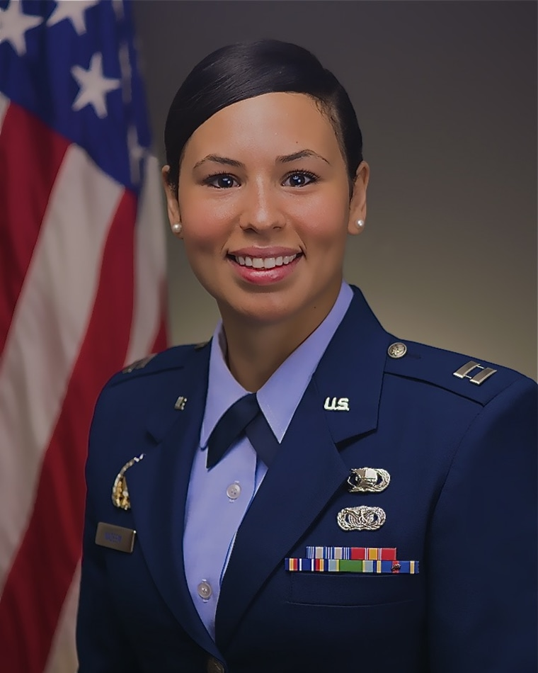 Capt. Alea Nadeem was photographed in the Pentagon on June 24, 2013.  (U.S. Air Force photo/Jim Varhegyi)