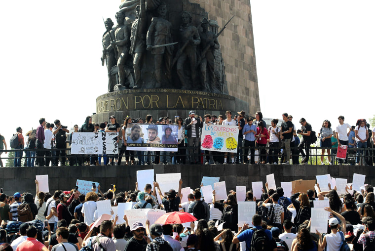Image: MEXICO-MISSING-STUDENTS-PROTEST