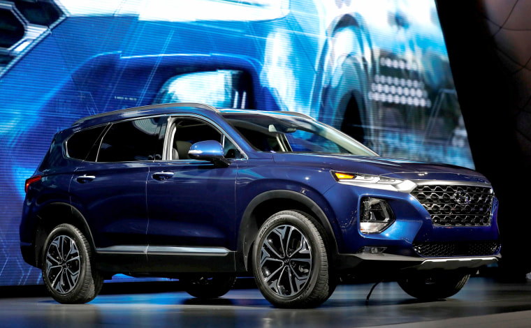 Image: The 2019 Hyundai Sante Fe is presented at the New York Auto Show in the Manhattan borough of New York City