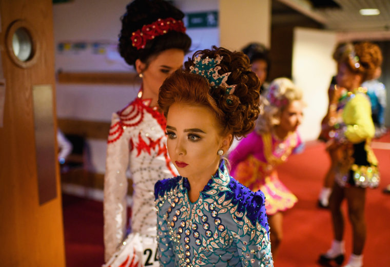 Image: Competitors Take Part In The 2018 World Irish Dancing Championships