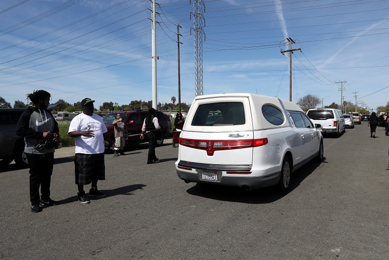 Image: Funeral Services Held For Unarmed Man Killed By Sacramento Police