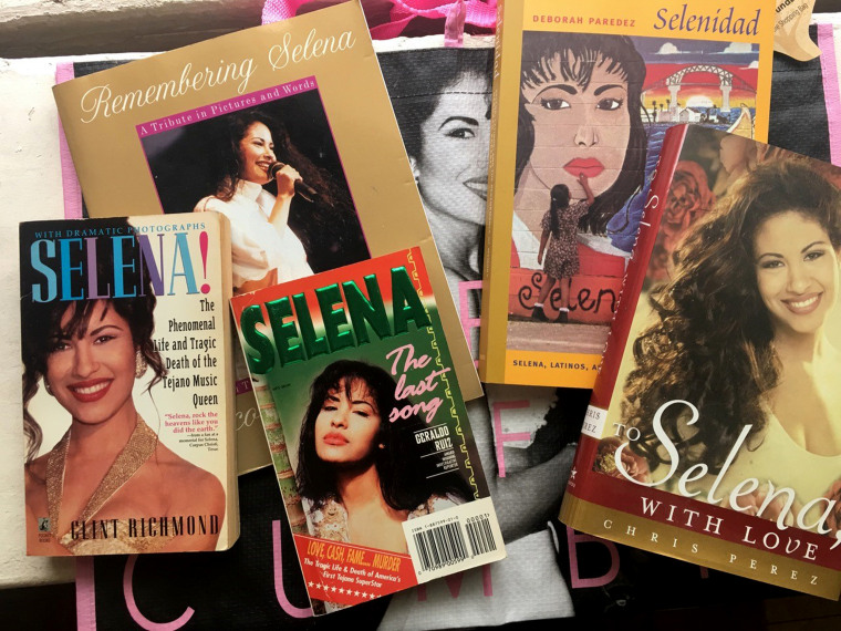 "Image: A New York Times writer called the books and commemorations of Selena an ""industry."""