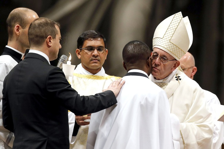 Image: Pope Francis' Easter Vigil mass