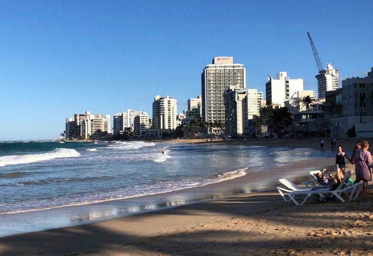 Image: A beach in San Juan