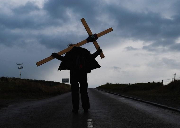 Image: Good Friday Pilgrimage Takes Place To Holy Island