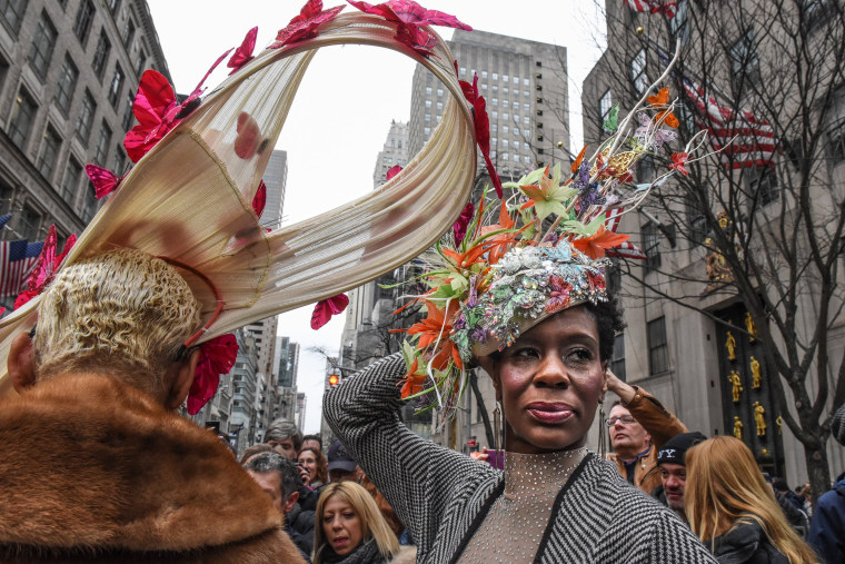Image: Easter Bonnets On Display At New York's Annual Easter Parade