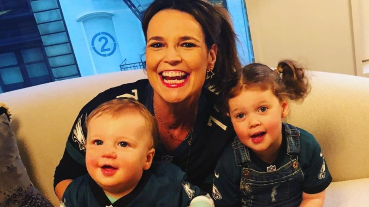 Savannah Guthrie often uses social media to share happy moments with her kids: Vale, 3, and Charlie, 1.